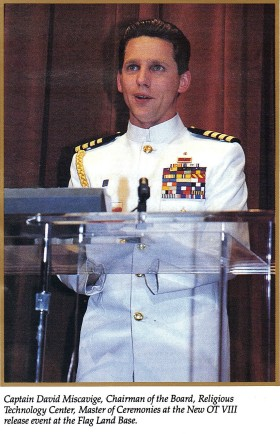 Captain David Miscavige in the early years before he became the Fleet Admiral of the Sea Org