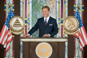 COB RTC David Miscavige briefs a joint session of the US Congress on how Scientology's religious prison systems keeps SP's off the streets -- and thus makes America that much safer!
