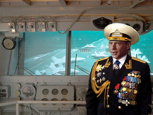 Fleet Admiral Miscavige on the bridge of the S.S. Dauntless launching strike fighters against the Psychs. Widely praised by the Colombian military for his strategic prowess, Fleet Admiral Miscavige has over 500 quasi-military medals.