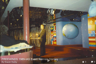 Norman Starkey speaking onboard the Freewinds in 1998.