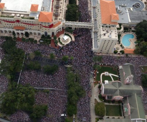 Crowds estimated at 25,000,000 Scientologists swarmed the new Flag Building during COB RTC David Miscavige's speech to open the facility. Photo courtesy of Johnny Tank at the criminally suppressive Underground Bunker