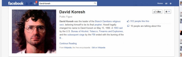 David.Koresh.FB.Page